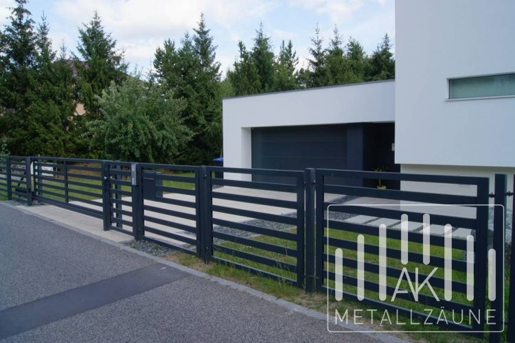 Favorit AK-METAL - Zäune aus Polen - DRESDEN Modern Zaun - moderne Metallz IB59